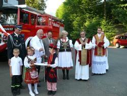 Chrzestnymi pojazdu zostali Barbara Chrząszczyńska z Modlnicy oraz Józef Kruk z Modlniczki